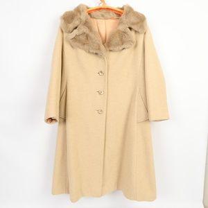 Vintage Faux Fur Collar Coat